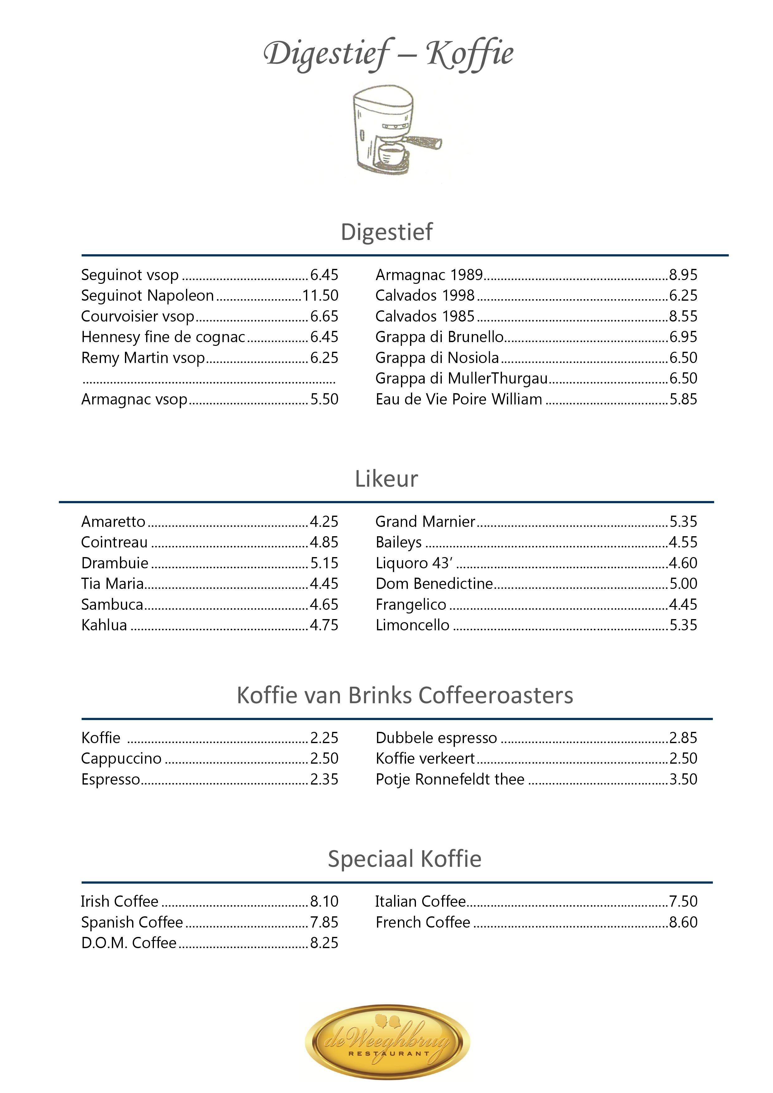 Koffie & digestief